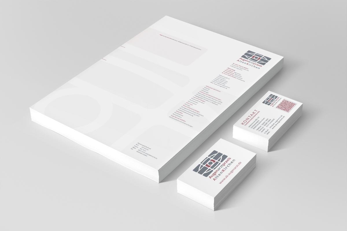 Praxis-Briefbogen / Visitenkarten