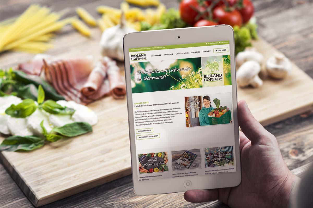 Website-Realisierung Bioland-Hof Schürdt