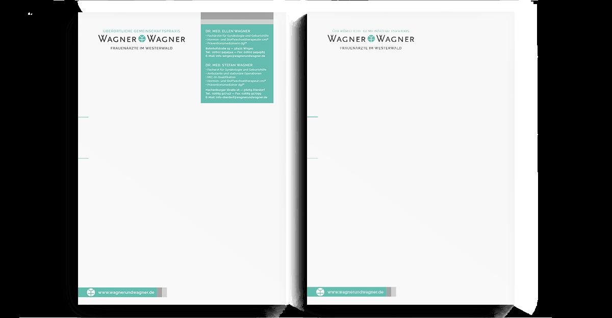 Briefbogen und Folgeseite