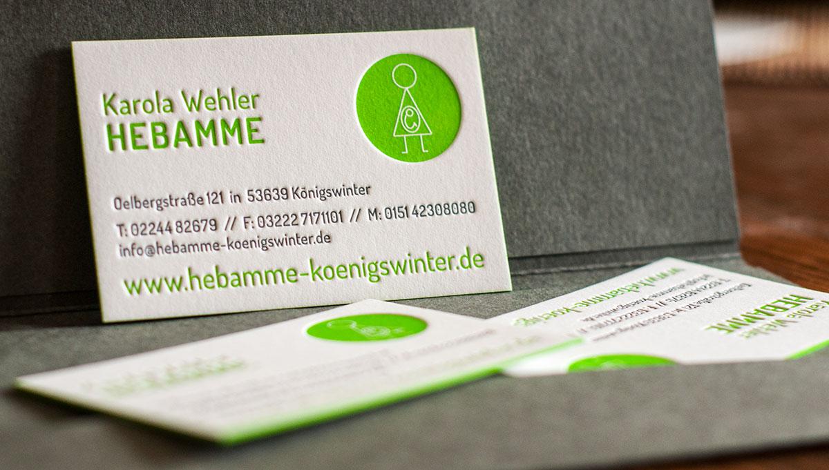Letterpress-Visitenkarten und Geschäftsdrucksachen