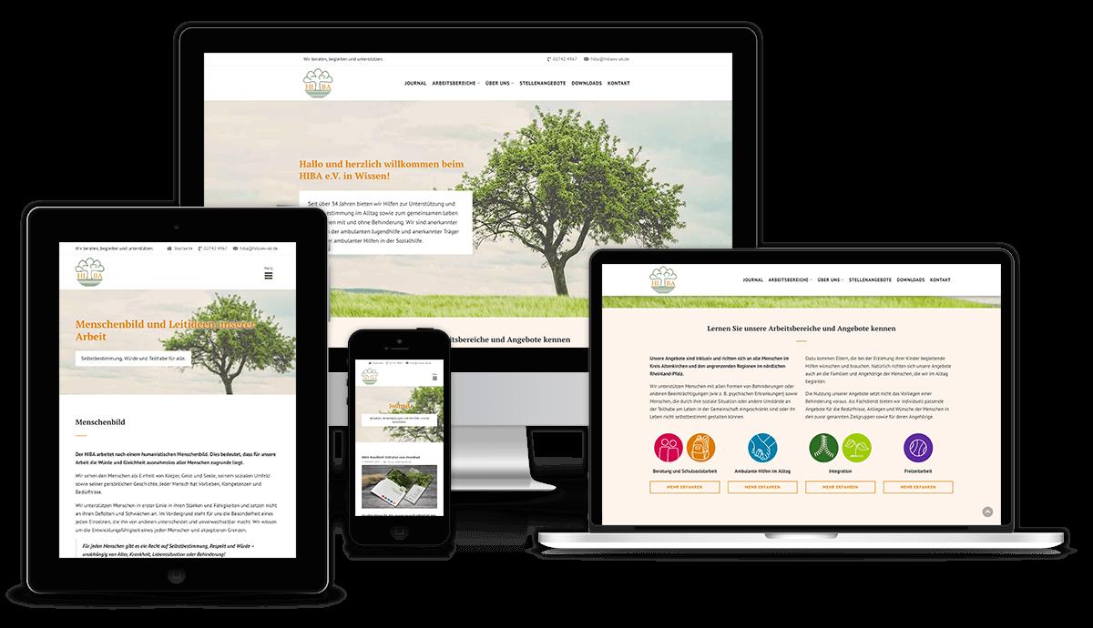 Responsive Vereinswebsite