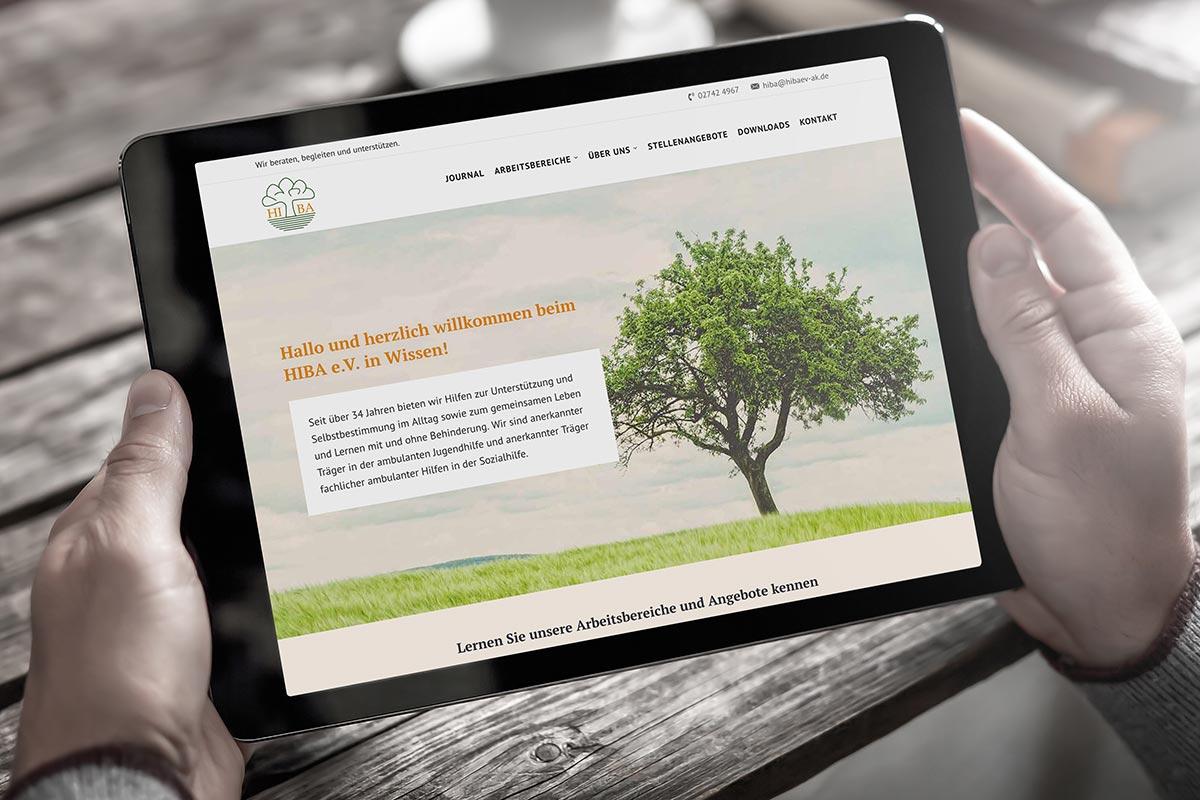 Website HIBA e.V.