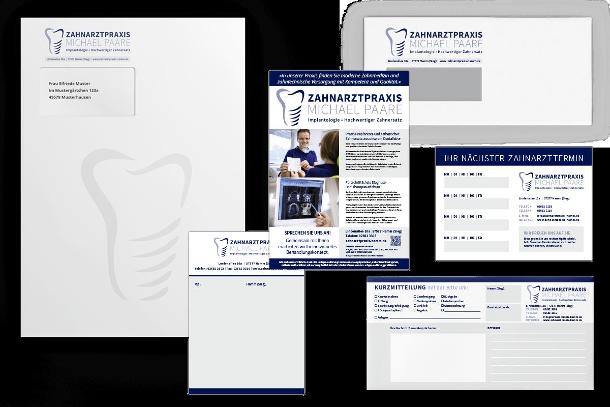 Briefumschläge, Versandtaschen, Anzeigen, Terminzettel, Privatrezepte, Kurzmitteilungen und mehr