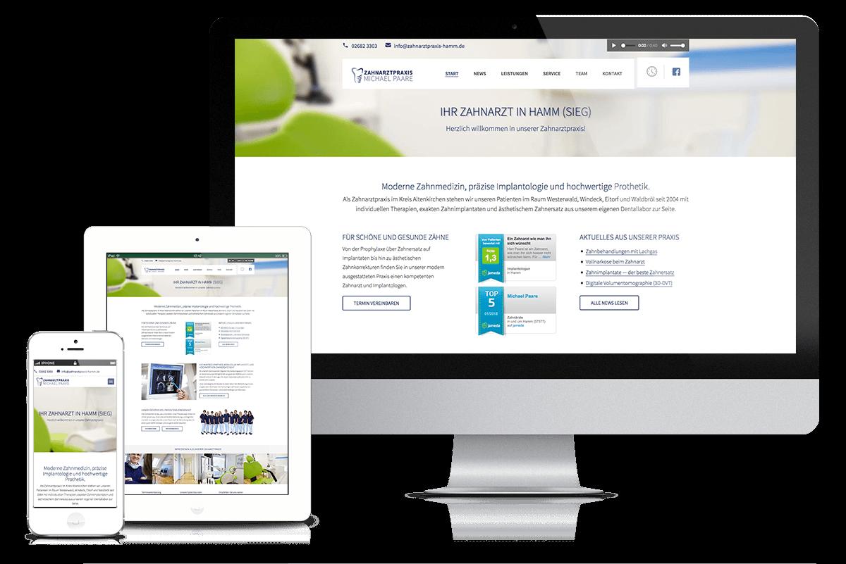 Praxiswebsite Zahnarzt